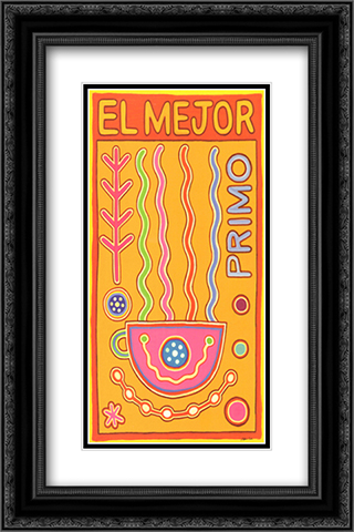 El Mejor 2x Matted 10x16 Black Ornate Framed Art Print by Adam Lee