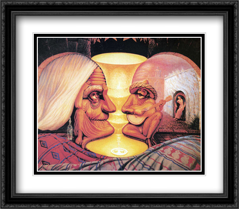 Forever Always 2x Matted 32x28 Extra Large Black Ornate Framed Art Print by Ocampo, Octavio