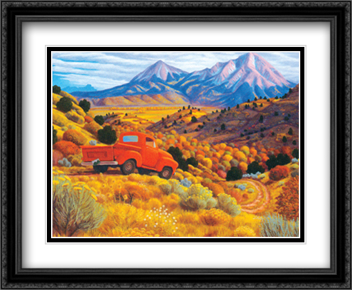 Autumn By The Spanish Peaks 2x Matted 34x28 Extra Large Black Ornate Framed Art Print by Stephen Morath
