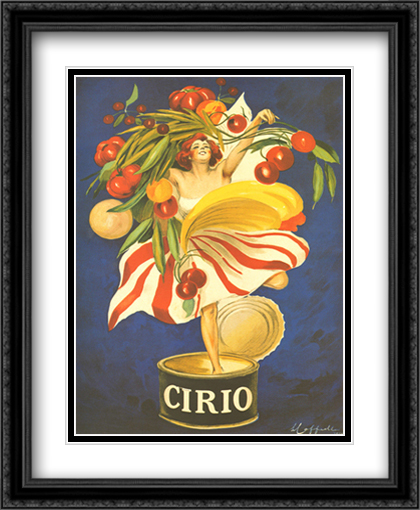 Cirio 2x Matted 28x36 Extra Large Black Ornate Framed Art Print by Leonetto Cappiello