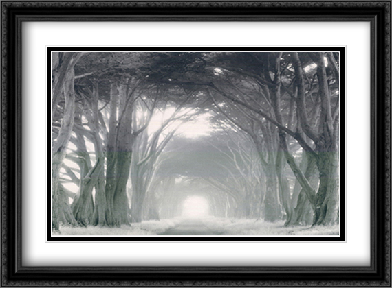 Into the Light 2x Matted 40x28 Extra Large Black Ornate Framed Art Print by Edward Holland