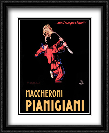 Maccheroni Pianigiani 1922 2x Matted 28x36 Extra Large Black Ornate Framed Art Print