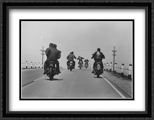 Route 12 2x Matted 34x24 Extra Large Black Ornate Framed Art Print by Danny Lyon