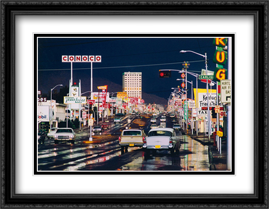 Albuquerque New Mexico 1969 2x Matted 40x28 Extra Large Black Ornate Framed Art Print by Ernst Haas