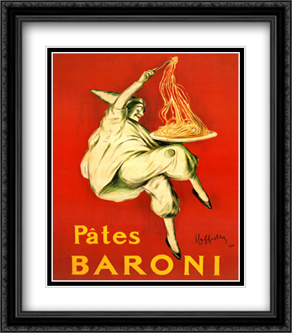 Pates Baroni 2x Matted 28x32 Extra Large Black Ornate Framed Art Print by Cappiello, Leonetto