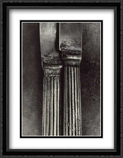 Two Knives 2x Matted 28x36 Extra Large Black Ornate Framed Art Print by Bob Carlos Clarke