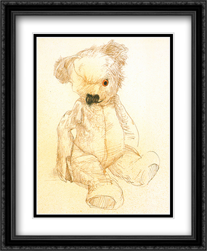 Teddy 2x Matted 28x34 Extra Large Black Ornate Framed Art Print by Steadman, Ralph