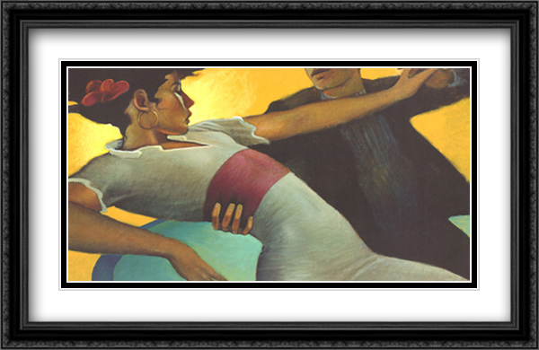 Amber Dream 2x Matted 40x28 Extra Large Black Ornate Framed Art Print by Bill Brauer