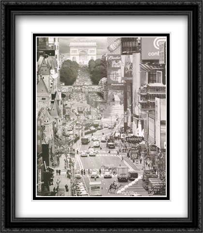 Econo Tour 2x Matted 28x40 Extra Large Black Ornate Framed Art Print by Thomas Barbey