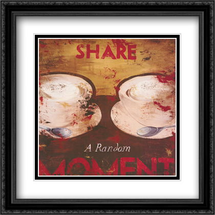 Share a Random Moment 2x Matted 28x28 Extra Large Black Ornate Framed Art Print by Rodney White