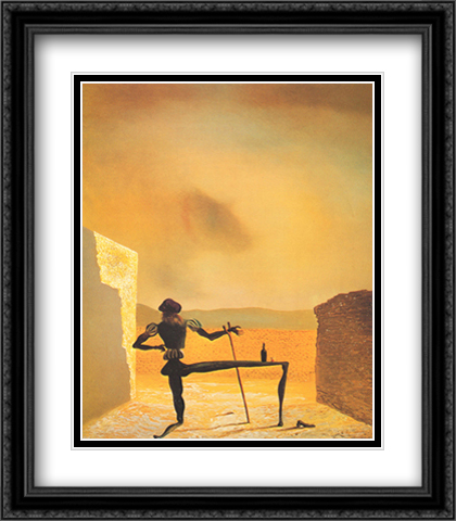 Ghost of Vermeer 2x Matted 28x32 Extra Large Black Ornate Framed Art Print by Dali, Salvador