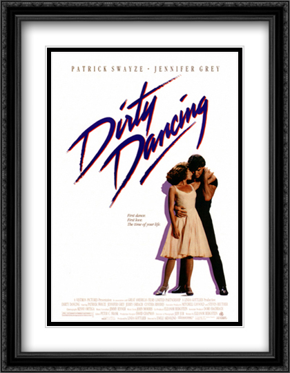 Dirty Dancing 28x36 Double Matted Extra Large Black Ornate Framed Movie Poster Art Print