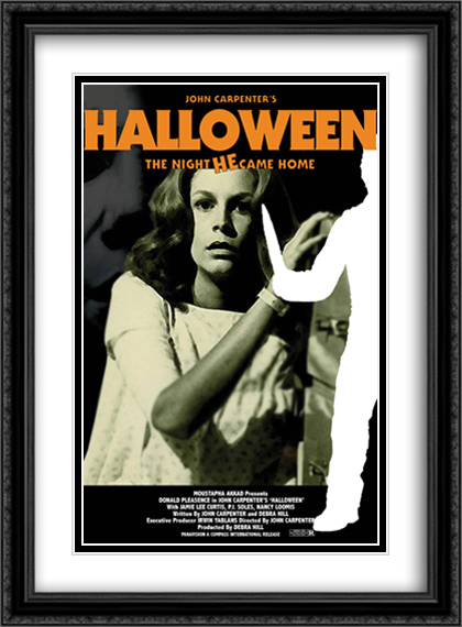 Halloween 28x38 Double Matted Extra Large Black Ornate Framed Movie Poster Art Print