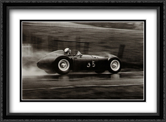 Grand Prix of Belgium, 1955 2x Matted 38x28 Extra Large Black Ornate Framed Art Print by Alexander, Jesse