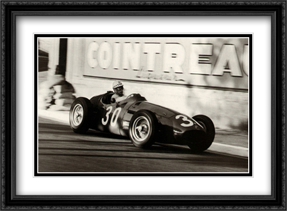 Grand Prix of Monaco, 1956 2x Matted 38x28 Extra Large Black Ornate Framed Art Print by Alexander, Jesse