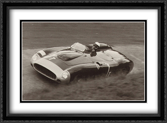 Nurburgring 1000k, 1956 2x Matted 38x28 Extra Large Black Ornate Framed Art Print by Alexander, Jesse