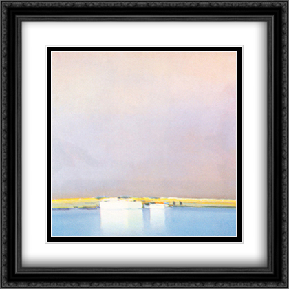 After the Storm 2x Matted 28x28 Extra Large Black Ornate Framed Art Print by Pierre Doutreleau