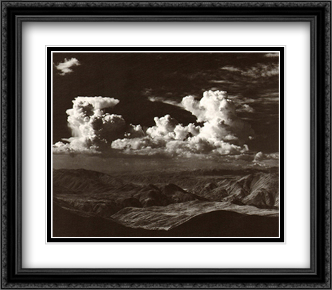 Thunderheads 2x Matted 36x28 Extra Large Black Ornate Framed Art Print by Ansel Adams