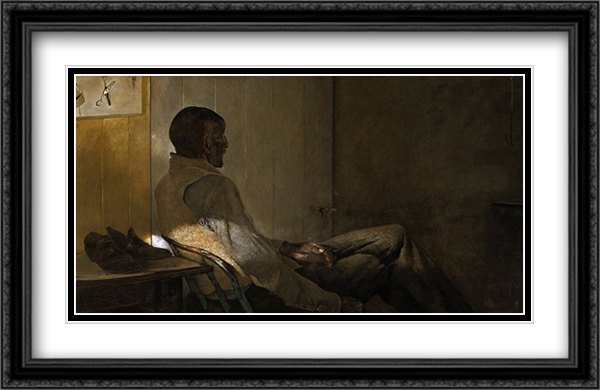 That Old Gentleman 2x Matted 40x26 Extra Large Black Ornate Framed Art Print by Wyeth, Andrew