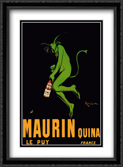 Maurin Quina, c.1920 2x Matted 28x40 Extra Large Black Ornate Framed Art Print