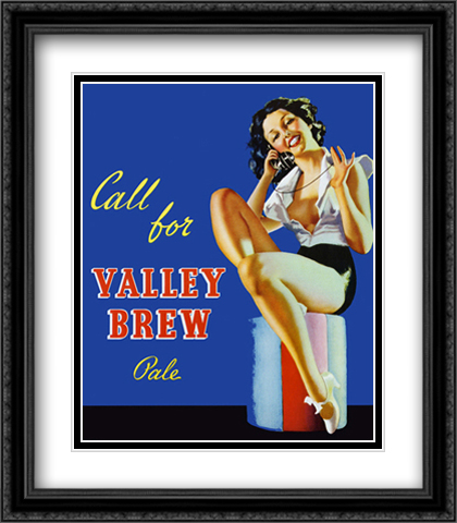 Valley Brew 2x Matted 28x32 Extra Large Black Ornate Framed Art Print
