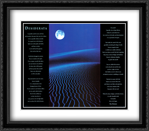 Desiderata 2x Matted 28x32 Extra Large Black Ornate Framed Art Print