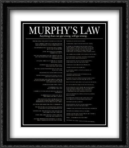 Murphy's Law 2x Matted 28x32 Extra Large Black Ornate Framed Art Print
