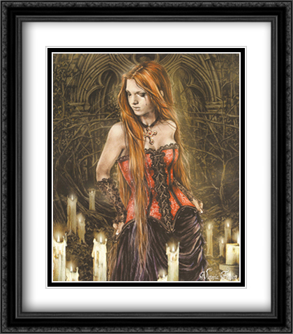 Red Basque 2x Matted 28x32 Extra Large Black Ornate Framed Art Print by Frances, Victoria