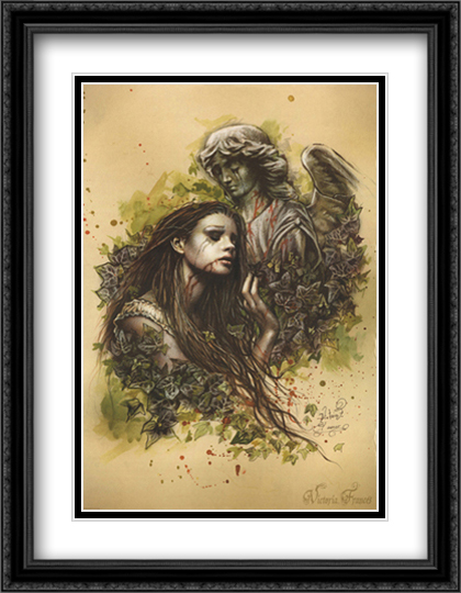 El Amor 2x Matted 28x36 Extra Large Black Ornate Framed Art Print by Frances, Victoria