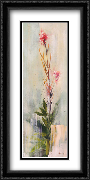 Fireweed II 2x Matted 16x40 Extra Large Black Ornate Framed Art Print by Simon Addyman