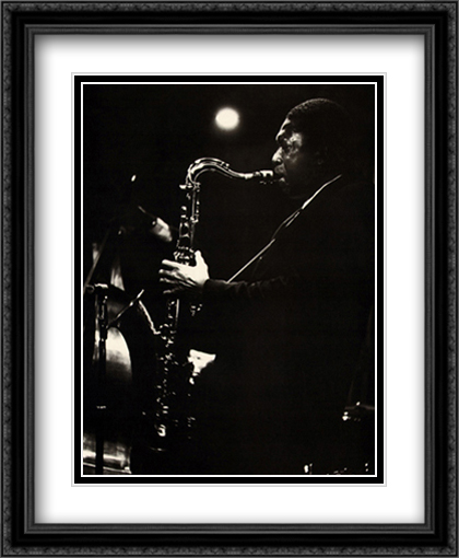 John Coltrane 2x Matted 28x34 Extra Large Black Ornate Framed Art Print by Tanner, Lee