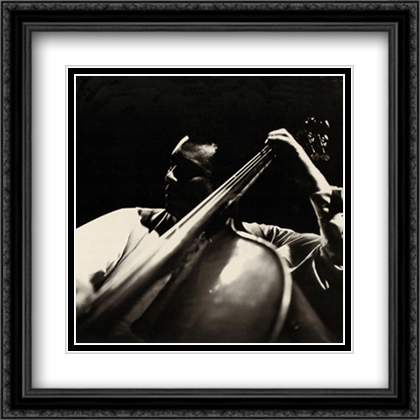 Charles Mingus 2x Matted 28x28 Extra Large Black Ornate Framed Art Print by Tanner, Lee