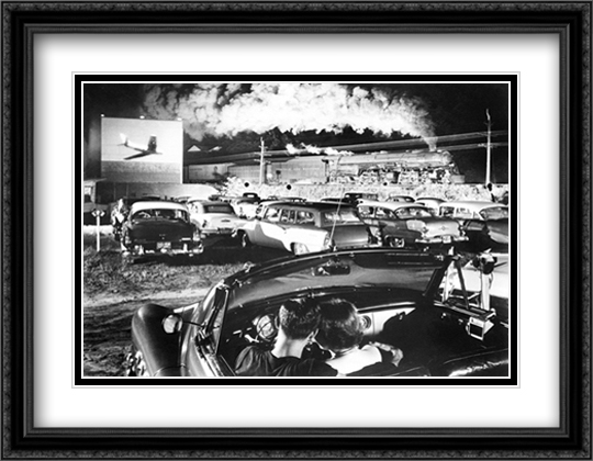 Hot Shot Eastbound 2x Matted 36x28 Extra Large Black Ornate Framed Art Print by O. Winston Link