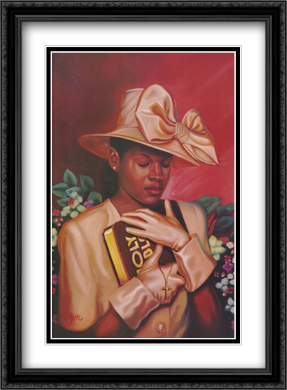 All That I Need 2x Matted 28x36 Extra Large Black Ornate Framed Art Print by Henry Lee Battle