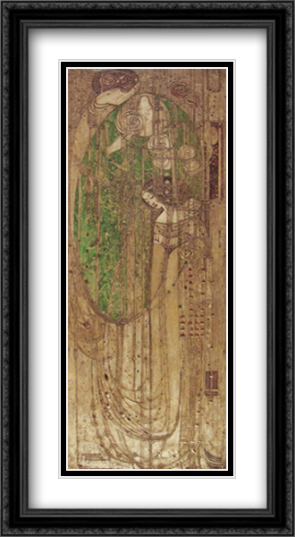 O Ye, All Ye That Walk in Willow Wood 2x Matted 24x40 Extra Large Black Ornate Framed Art Print by Margaret MacDonald Mackintosh