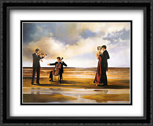 Dance With Me 2x Matted 36x28 Extra Large Black Ornate Framed Art Print by Ron Di Scenza