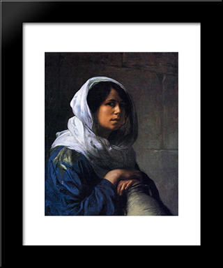 Egyptian Water Carrier: Modern Custom Black Framed Art Print by Jean Leon Gerome