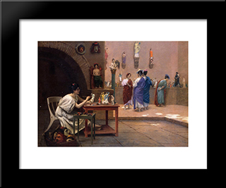 Painting Breathes Life Into Sculpture: Modern Custom Black Framed Art Print by Jean Leon Gerome