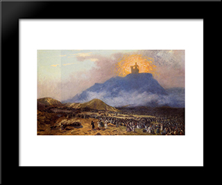 Moses On Mount Sinai: Modern Custom Black Framed Art Print by Jean Leon Gerome