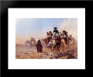 Napoleon And His General Staff: Modern Custom Black Framed Art Print by Jean Leon Gerome