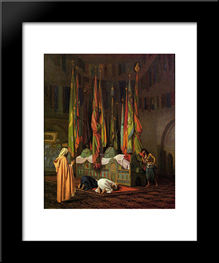 The Tomb Of Hazrat Imam Hisain Allahis Salam: Modern Custom Black Framed Art Print by Jean Leon Gerome