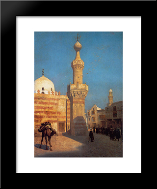View Of Cairo: Modern Custom Black Framed Art Print by Jean Leon Gerome