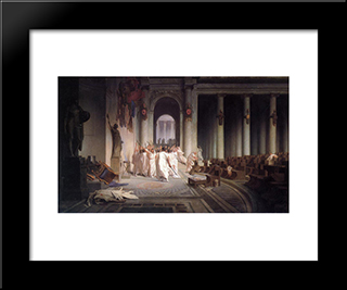 The Death Of Caesar: Modern Custom Black Framed Art Print by Jean Leon Gerome
