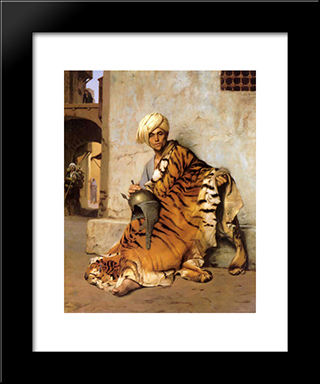 Pelt Merchant Of Cairo: Modern Custom Black Framed Art Print by Jean Leon Gerome