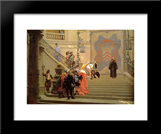 L'Eminence Grise: Modern Custom Black Framed Art Print by Jean Leon Gerome