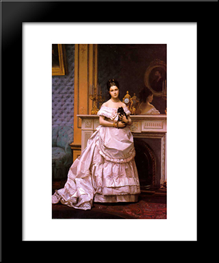 Portrait Of A Lady: Modern Custom Black Framed Art Print by Jean Leon Gerome