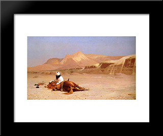 The Arab And His Steed: Modern Custom Black Framed Art Print by Jean Leon Gerome