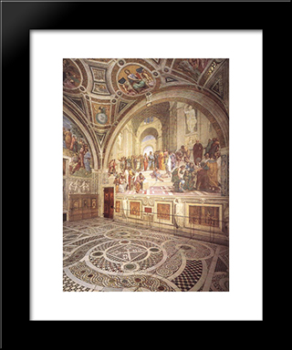 View Of The Stanza Della Segnatura: Modern Custom Black Framed Art Print by Raphael