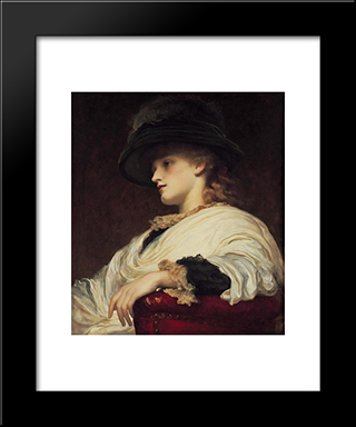 Phoebe: Modern Custom Black Framed Art Print by Frederic Leighton