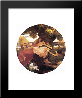 The Garden Of The Hesperides: Modern Custom Black Framed Art Print by Frederic Leighton
